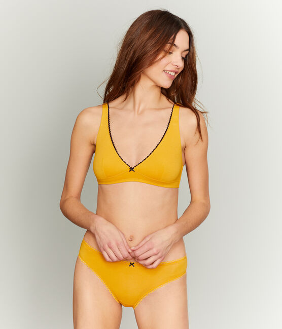 Women's Triangle Bra Boudor yellow