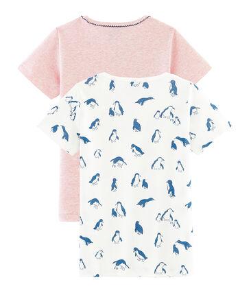 Girls' Short-sleeved T-Shirt - 2-Piece Set