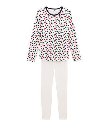 Girl's pyjamas Marshmallow white / Multico white