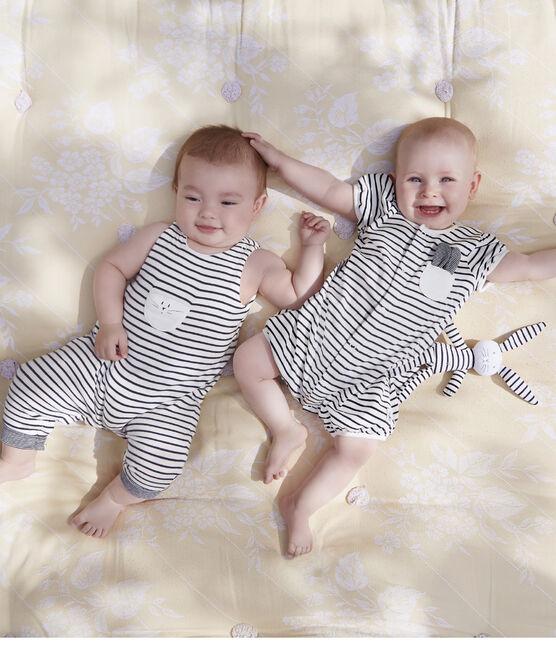 Babies' Jersey Bunny Comforter Marshmallow white / Smoking blue