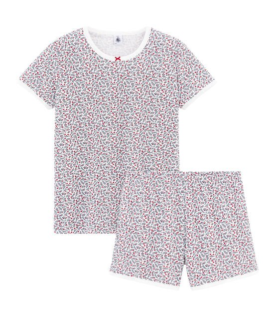 Girls' short Pyjamas Marshmallow white / Multico white