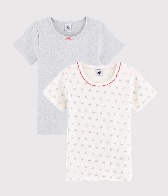 Girls' Cat Print Short-sleeved T-Shirt - 2-Piece Set . set