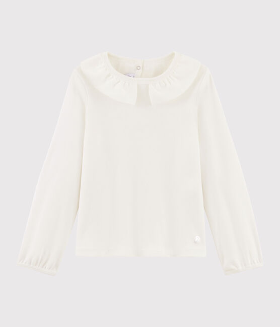 Girls' Collared T-shirt Marshmallow white