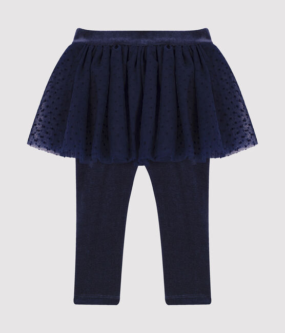 Baby's leggings with tulle skirt Smoking blue