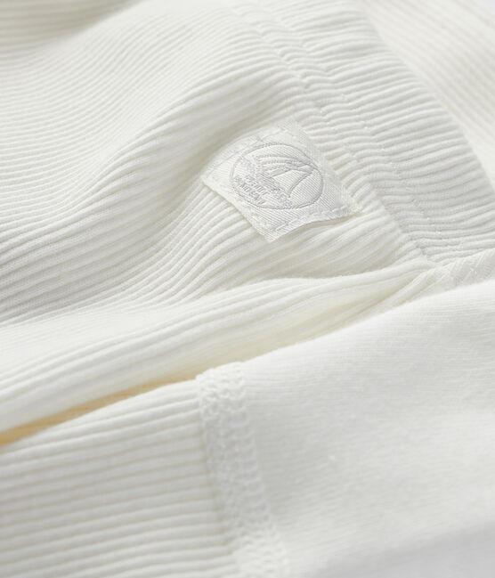 Babies' Organic Cotton 2x2 Rib Knit Leggings Marshmallow white