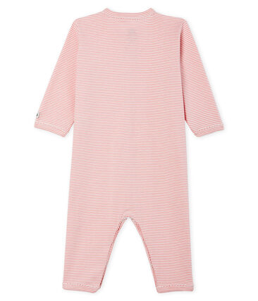 Baby Girls' Footless Ribbed Sleepsuit Charme pink / Marshmallow white
