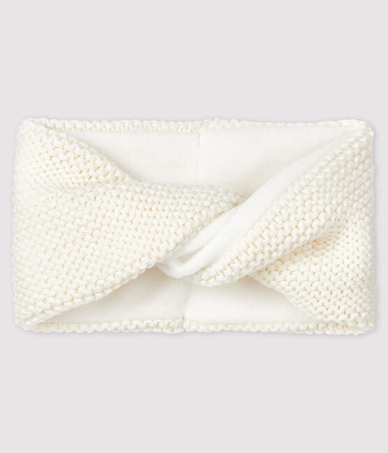 Baby girl's plain snood Marshmallow white
