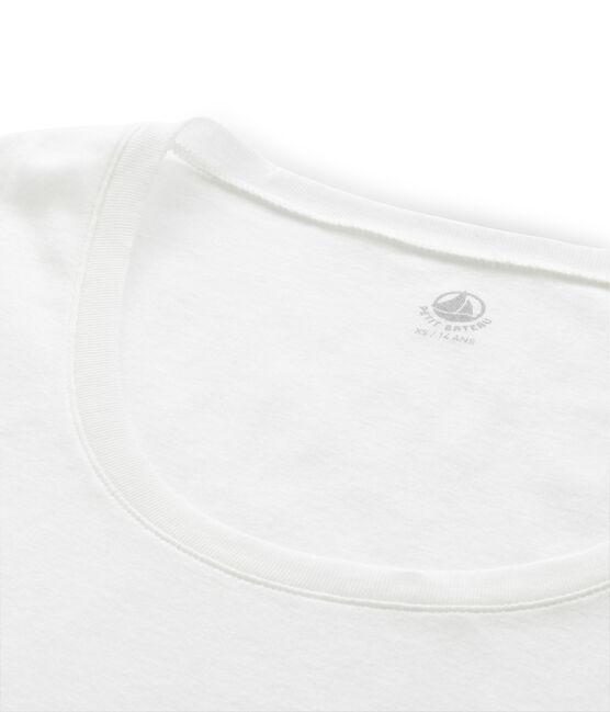 Women's fine rib knit T-shirt Marshmallow white