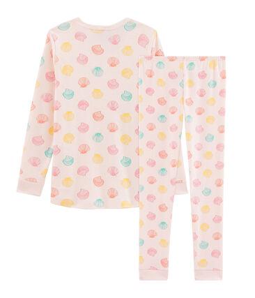 Girls' Snugfit Pyjamas Fleur pink / Multico white