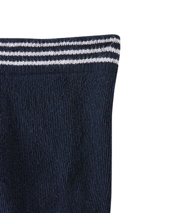 Pair of tights for baby girls Abysse blue