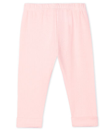 Baby Girls' Plain Knit Trousers Minois pink