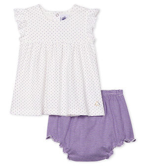Baby Girls' Clothing - 2-Piece Set Real purple / Marshmallow white