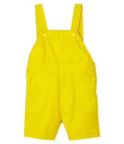 Baby Boys' Short Dungarees Gengibre yellow