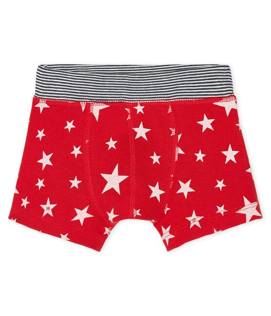 Boys' boxer shorts Terkuit red / Marshmallow white