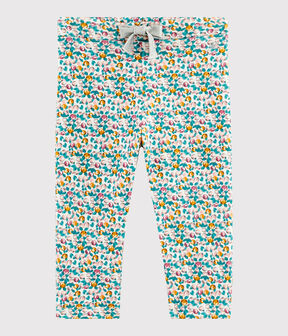 Baby girl's trousers Marshmallow white / Multico white