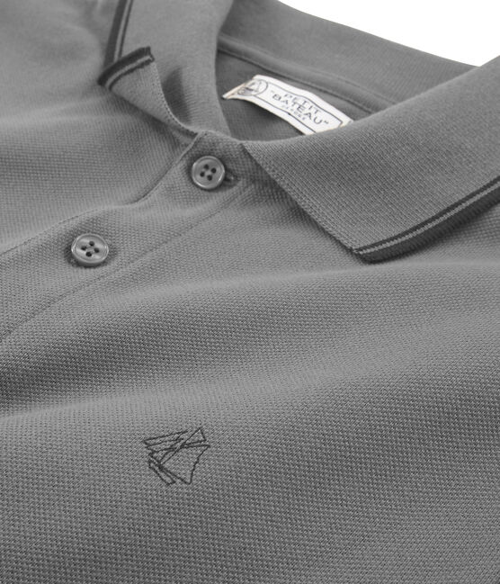 Men's short-sleeved polo shirt Beluga Chine grey