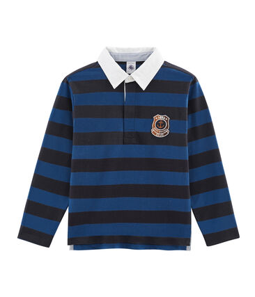 Boys' Striped Rugby Polo Shirt