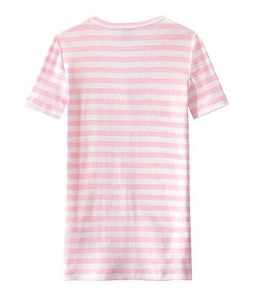Women's striped original rib V-neck T-shirt