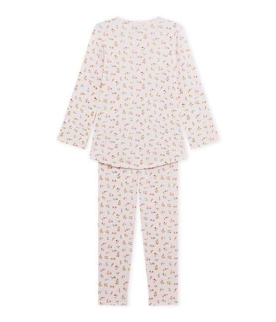 Pyjama fille à imprimé petites fleurs Vienne pink / Multico white
