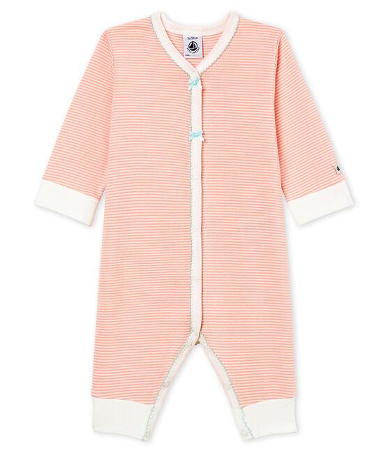 Baby Girls' Sleepsuit Rosako pink / Marshmallow white