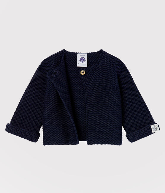 Babies' Cardigan Made Of 100% Cotton Knit SMOKING