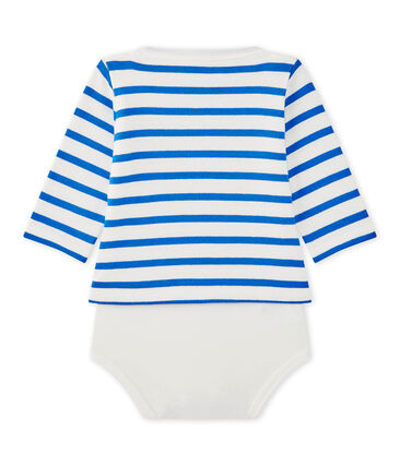Baby's long-sleeved sailor-style bodysuit
