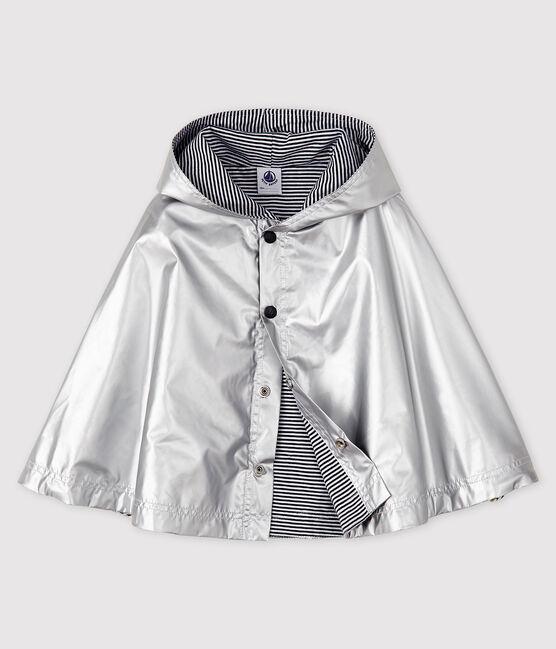 Unisex baby's waterproof cape Argent grey