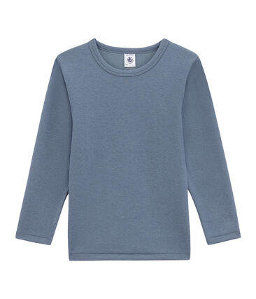 Little boy's long sleeved tee-shirt Turquin blue