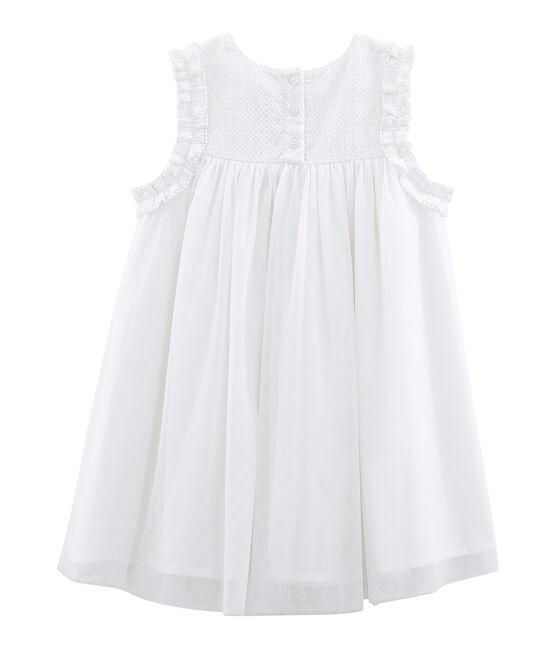 Robe de cérémonie enfant fille Ecume white / Or yellow