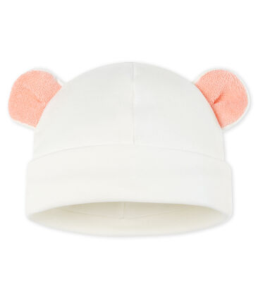 Babies' Cotton Hat Marshmallow white