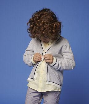 Boys' Cotton Jersey Waistcoat Poussiere Chine grey