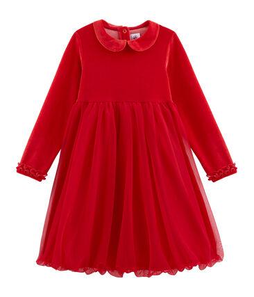 Girls' Dress Terkuit red