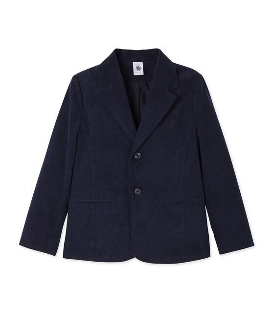 Boy's suit jacket in velours Smoking blue