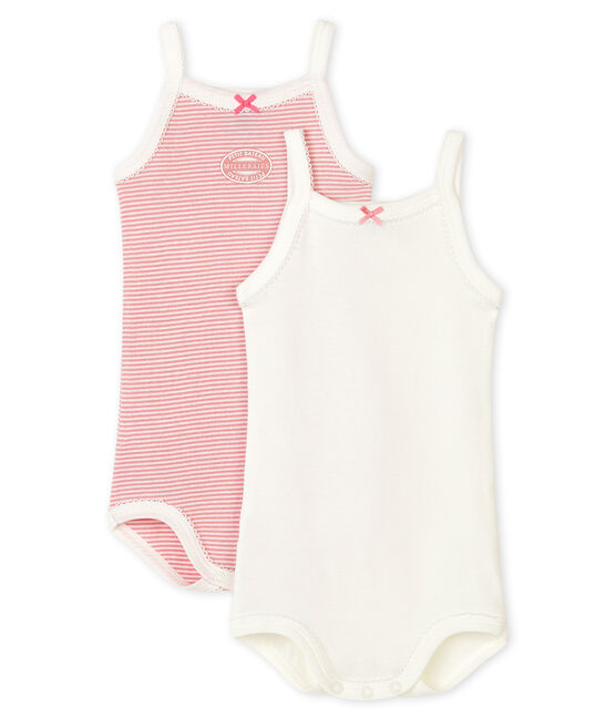 Baby Girls' Bodysuits with Straps - 2-Piece Set . set