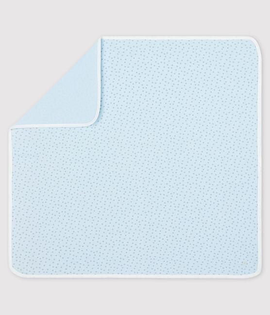Babies' Ribbed Maternity Blanket Fraicheur blue / Concrete grey