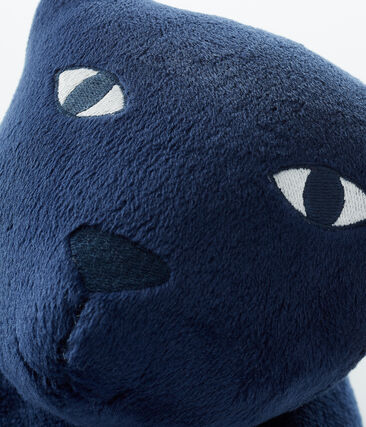 Velour Panther Cushion Medieval blue