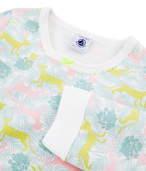 Girls' Fleece Pyjamas Marshmallow white / Multico white