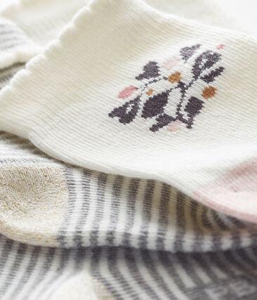 Set of 2 pairs of baby girl's socks . set