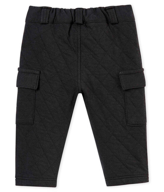 Baby boy's quilted cotton tubic trousers Capecod grey