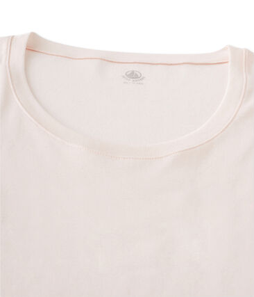 Women's Short-Sleeved V-Neck T-Shirt Fleur pink