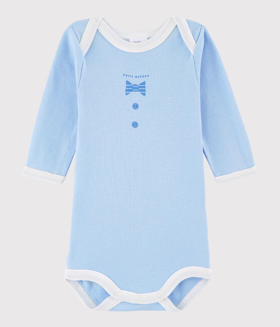 Unisex Babies' Long-Sleeved Bodysuit Jasmin blue