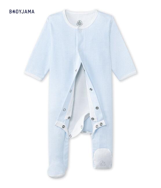 Unisex baby bodyjama Fraicheur blue / Ecume white