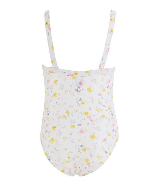 Girl's Eco-Friendly Swimsuit Marshmallow white / Multico white