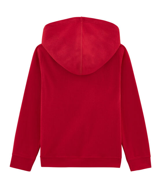 Boys' Hooded Sweatshirt Terkuit red