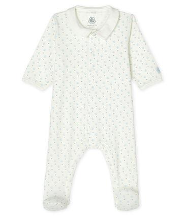Baby Boys' Ribbed Sleepsuit Marshmallow white / Multico white