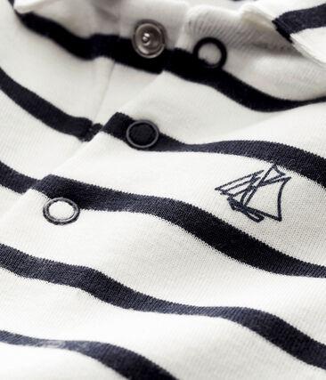 Baby boy's sailor striped polo shirt