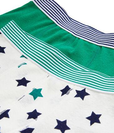 Boys' Cotton/Linen Boxer Shorts - 2-Piece Set . set
