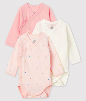 Newborn Babies' Long-Sleeved Bodysuit - 3-Pack . set