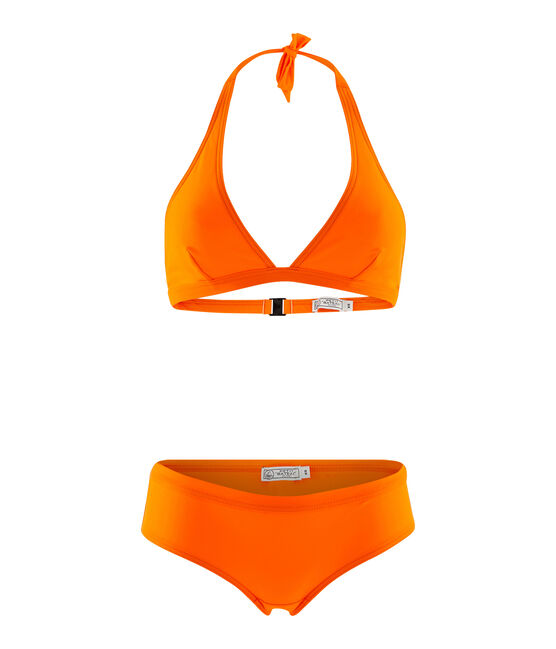 Eco-friendly 2-piece swimsuit Tiger orange