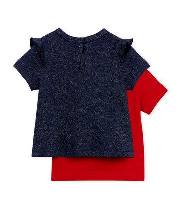 Baby girls' t-shirt - set of 2
